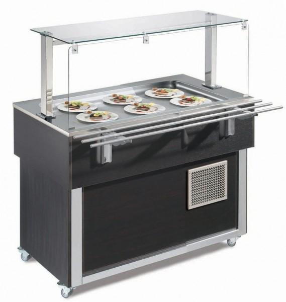Ausgabe-Element gekühlte Platte 1169 mm GN 3/1 Vollverkleidung Wenge| Cookmax