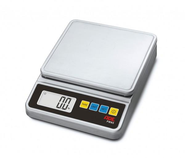 Elektronische Kompaktwaage bis 5 kg Netz- und Akkubetrieb 244 x 187 x 54 mm