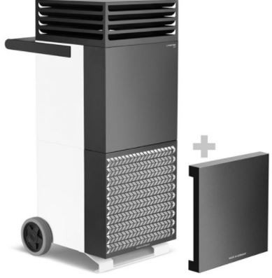 Luftreiniger TAC V+weiß/schwarz lackiert- inkl. erste Filterausstattung- inkl. S