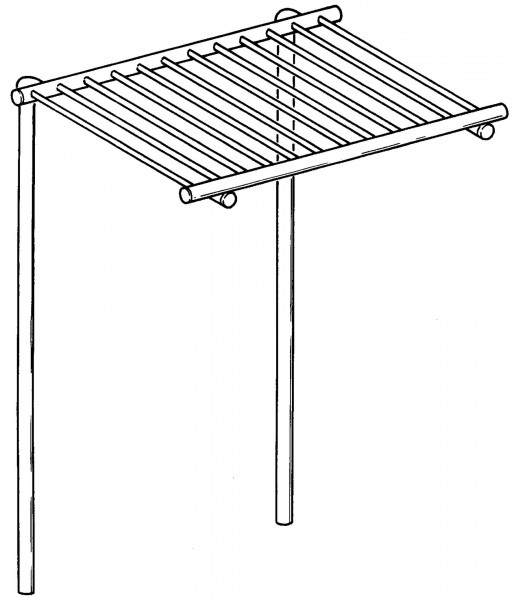 Aufsatzablagerost für Töpfe, B: 1600 mm