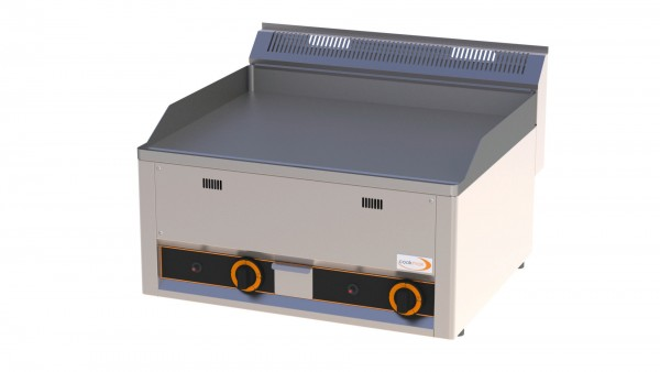 Gas-Grillplatte glatt 2 Heizzonen 660 x 600 x 290 mm